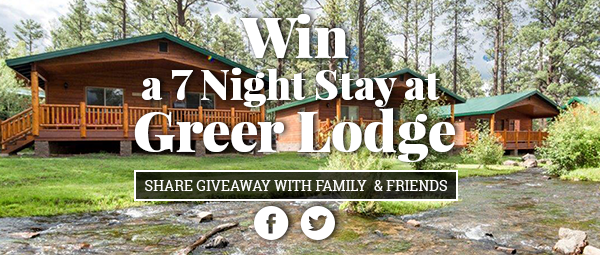 Greer Lodge 2018 Cabin Giveaway