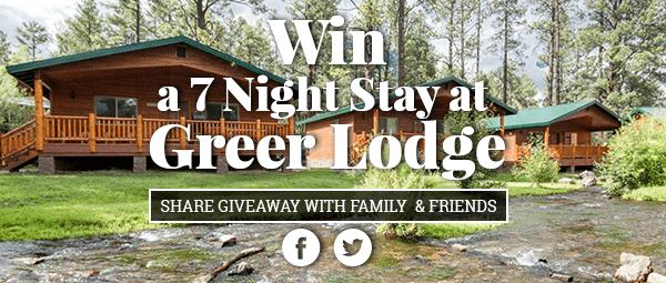 Greer Lodge Resort & Cabin - 2017 Cabin Giveaway!