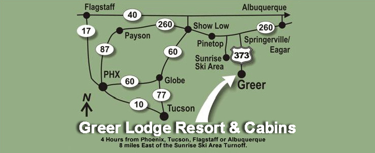 Greer Lodge Resort & Cabins Map