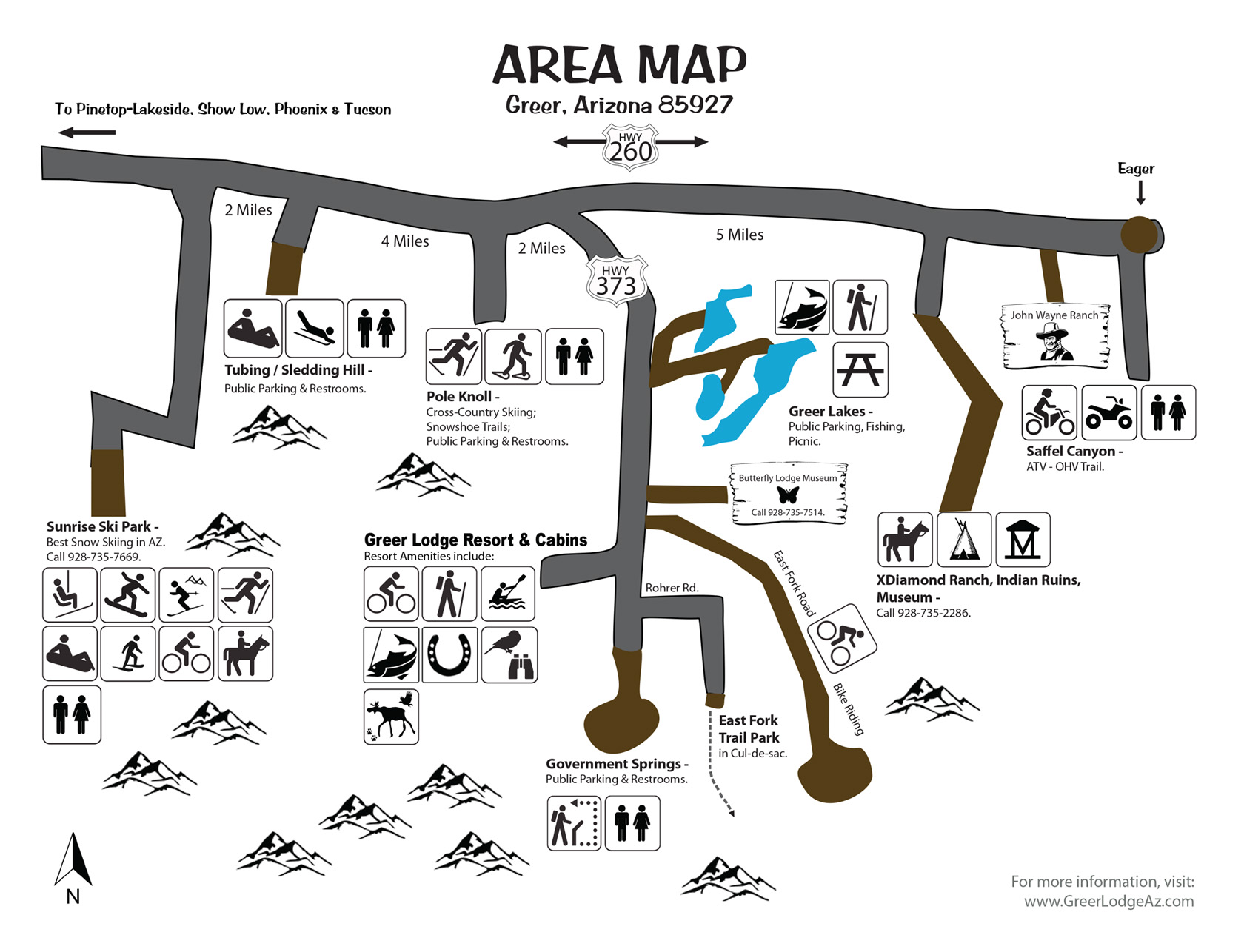 Greer Arizona Area Map