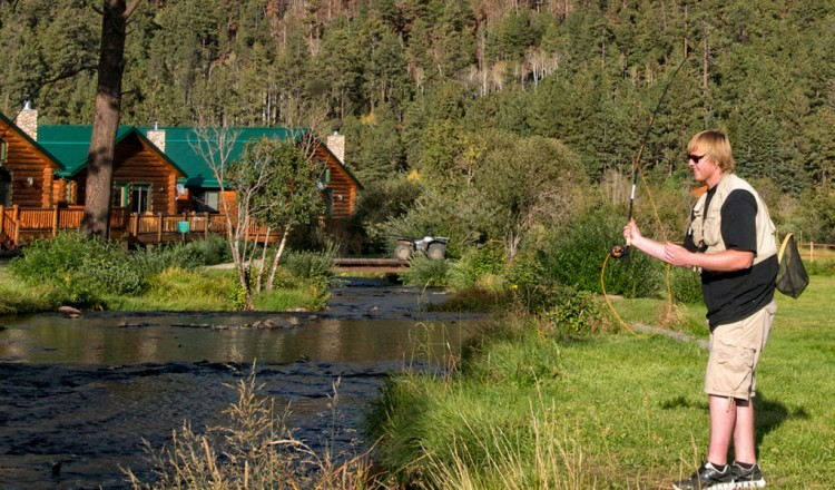 Fly fishing in Greer, AZ -- Little Colorado River