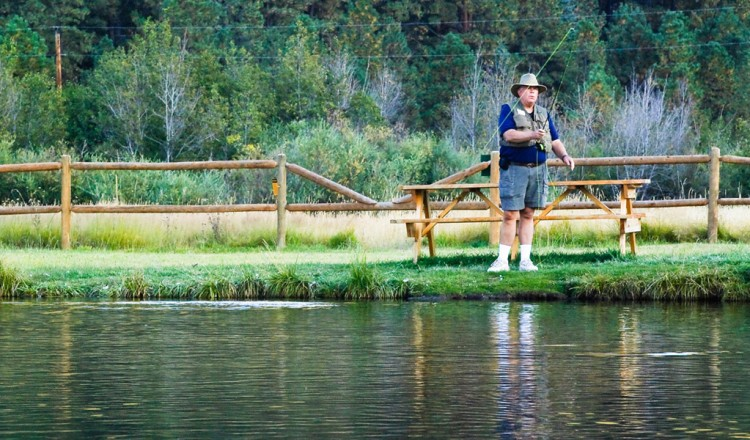 Private Fly Fishing Trout Ponds at Greer Lodge