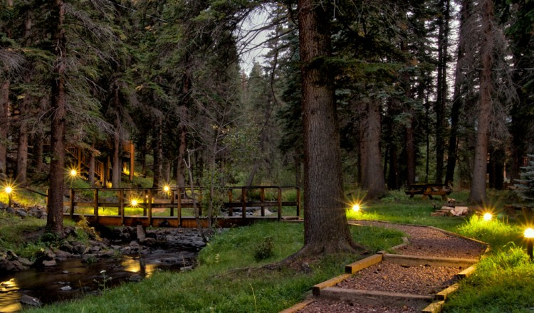 Light up pathway - Greer, AZ