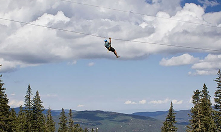 Zip Line Tours At Sunrise Ski Park Greer Lodge