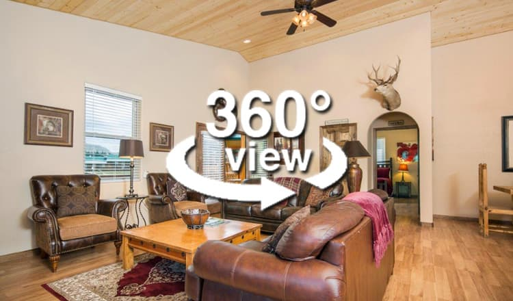 Virtual Tour for Cabin 283 Family Living Room