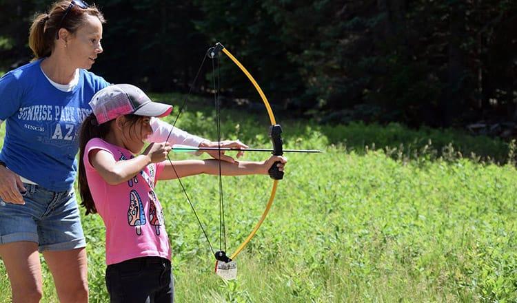Archery Course at Sunrise Park Resort