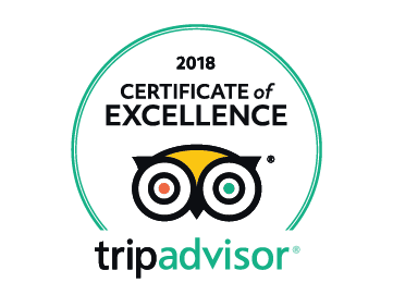 TripAdvisor: 2018 Certificate of Excellence