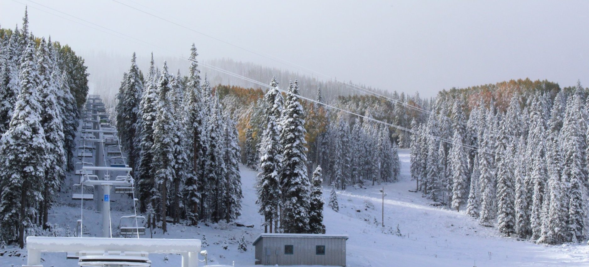 winter is coming! first snowfall in greer, az for the season
