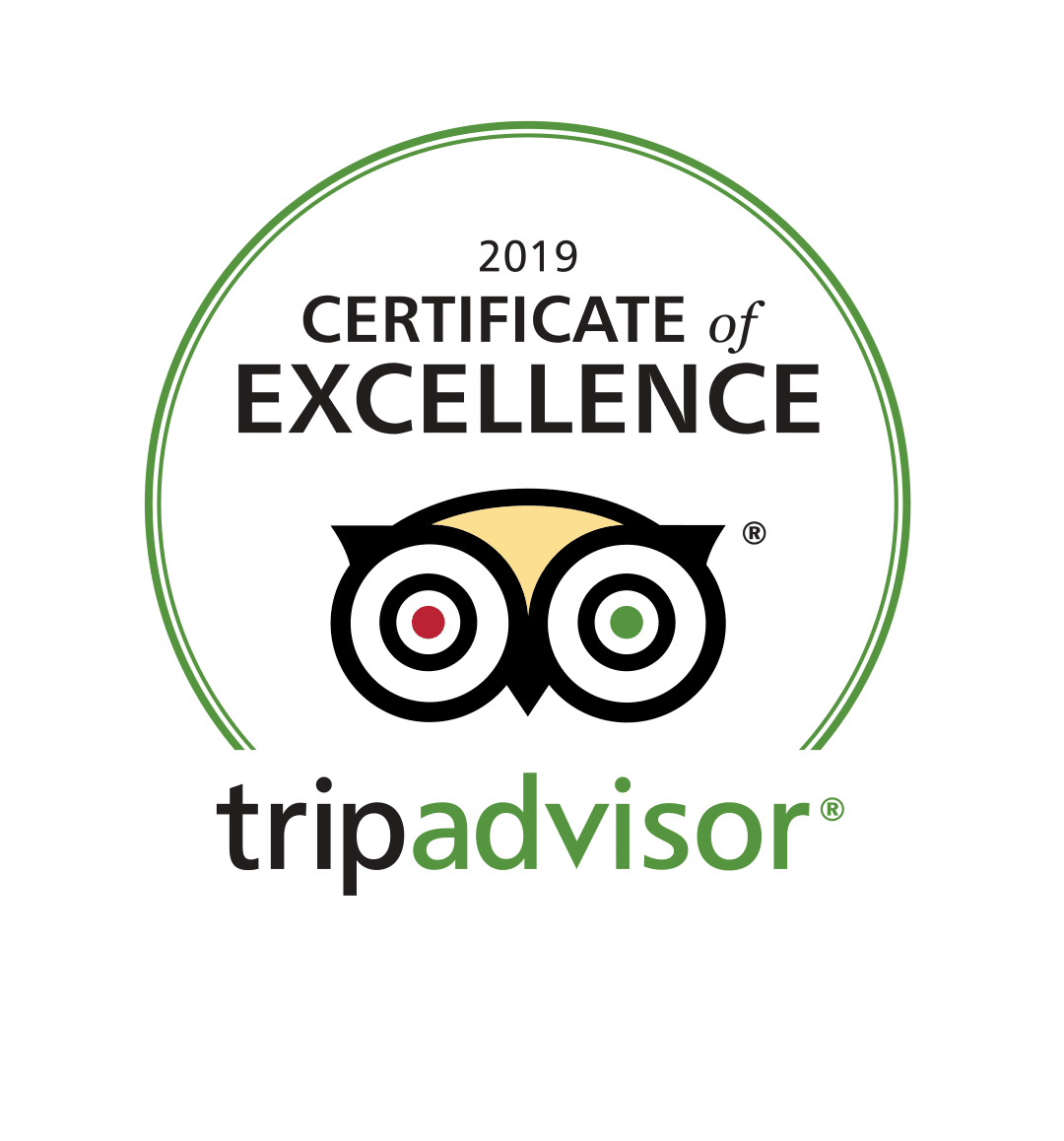 TripAdvisor: 2019 Certificate of Excellence