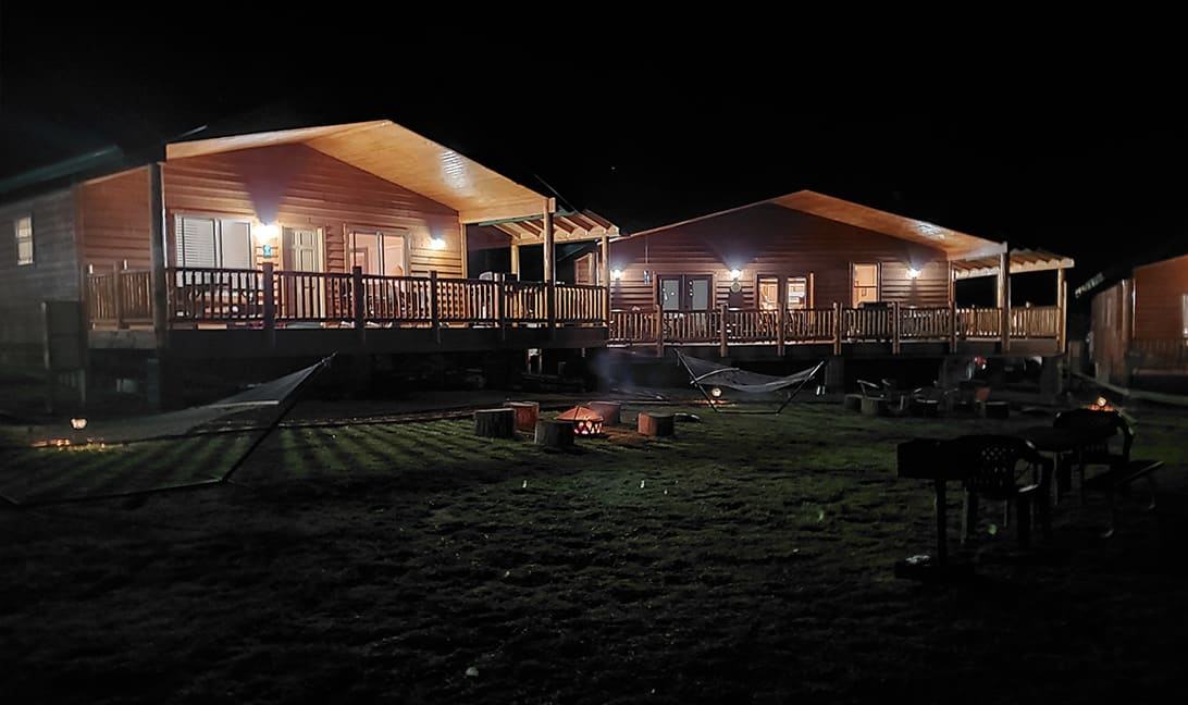 Firepits at Greer Lodge