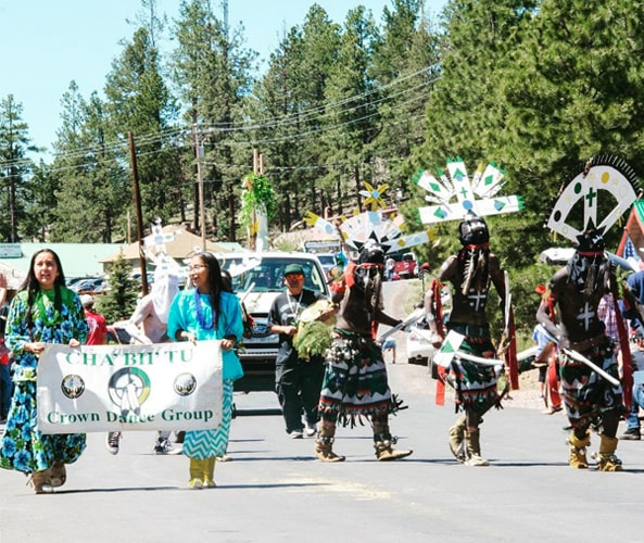 Dancing tribe in Greer Days parade